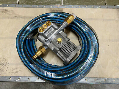 PETROL POWER WASHER PUMP NEW FITS  2.5 Hp Engine  16mm Shaft. + 15 Mtr Hose • 55£