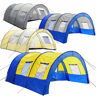 Tunnel Tent 6 Person Large Family Group Water Column Camping New • 104.95£