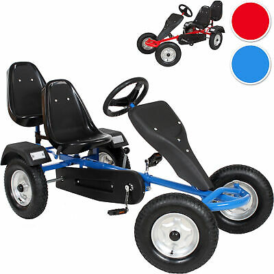 £372.95 • Buy Go Kart Pedal 2 Seater Ride On Car Rubber Tires New