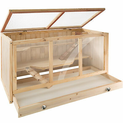 £66.95 • Buy Rodent Cage Hamster Hutches Small Animals Villa Enclosure Wooden Outdoor New