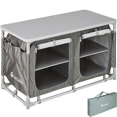 Camping Kitchen Stand Aluminium Storage Unit Portable Cooking Lightweight New • 69.95£
