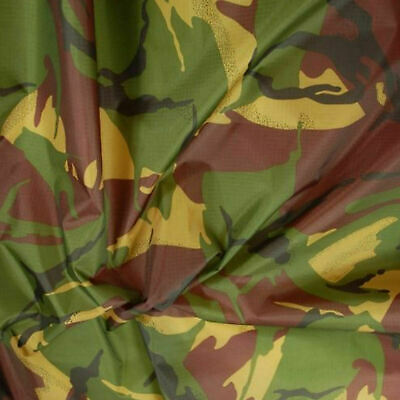 £5.99 • Buy 4oz Waterproof Camo Ripstop Army Camouflage Nylon Fabric Material 150cm Wide
