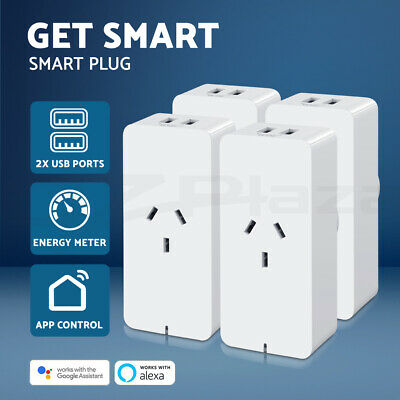 AU72.95 • Buy WiFi Smart Plug Wireless AU Socket Outlet Control 2 USB Port Alexa Google Home