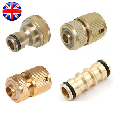 Universal Garden Watering Water Hose Pipe Tap Brass Connector Adaptor Fitting • 5.69£