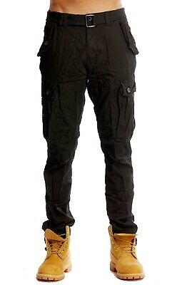 $24.95 • Buy PJ Mark Mens Lightweight Slim Taper Fit Twill Belted Cargo Pants With DrawString