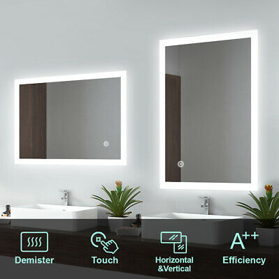 Illuminated LED Bathroom Mirror Lights With Demister Touch Control IP44 Backlit • 68.99£