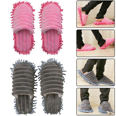 Durable Microfibre Shoe Sock Mop Slippers Remover Cleaning Floor Polishers Home • 9.15£