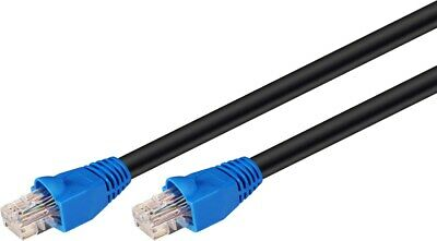 £13.29 • Buy CAT 6 Outdoor Ethernet Network Patch Lead Cable U/UTP Black - For External Use