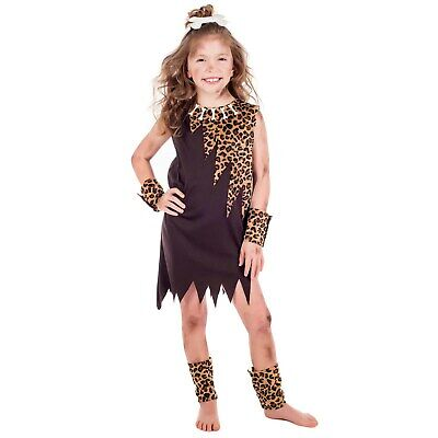 £14.95 • Buy Kids Cave Girl Costume S - XL Childs Stone Age Fancy Dress Book Week Caveman