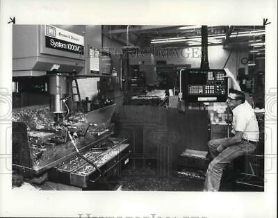 $19.99 • Buy 1984 Press Photo Machinist Randle Middaugh With A Computer Drilling Machine