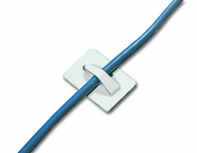 £2.80 • Buy Stainless Steel Self Adhesive Cable Clips Adhesive Wire Cable Sticky Pads
