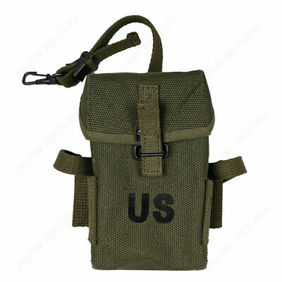 $37.99 • Buy WWII Army Canvas Bag Vietnam War M1956 M14 Long Type Ammo Pouch Replica Military