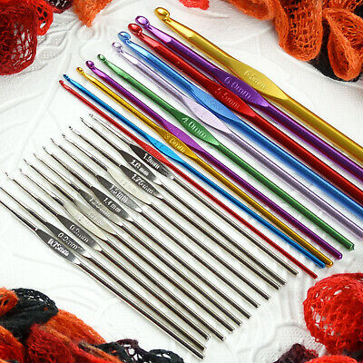 Spare/Replacement Aluminum Crochet Hook For Yarn Knitting Needle Set Kit 22 Size • 1.29£