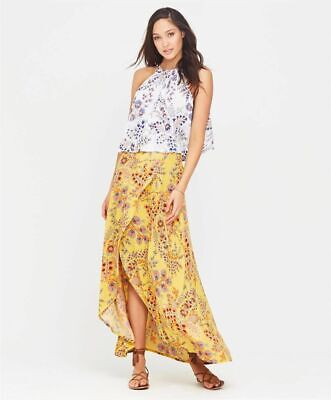 AU60 • Buy Tigerlily BNWT 6 Manipura Sunflower Floral Boho Maxi Skirt Brand New RRP $180