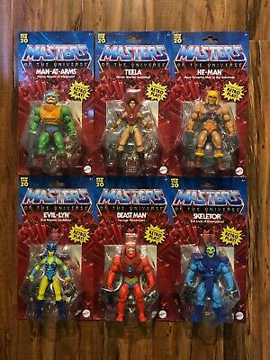 $145.99 • Buy Masters Of The Universe Origins Walmart Full Set Of 6 Mattel He-Man Skeletor