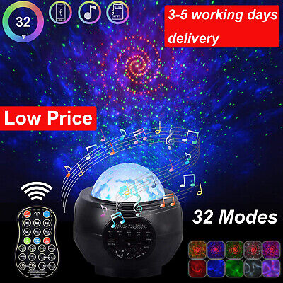 Galaxy Star Music Night Lamp Ocean Wave Projector Remote LED Starry Night Light • 17.79£