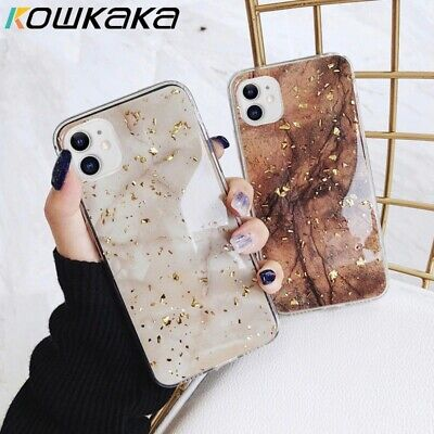 Bling Marble Case For IPhone 12 XR 7 8 Plus X XS SE 2020 11 Pro Max Phone Cover • 3.99£
