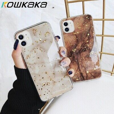 Bling Marble Case For IPhone XR 7 8 Plus X XS SE 2020 11 Pro Max Phone Cover • 3.99£