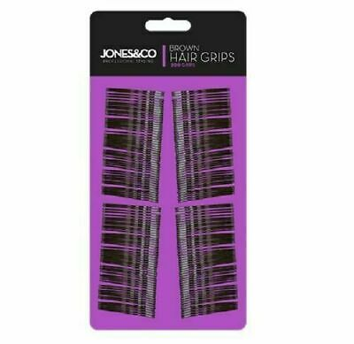 💖200 X BROWN HAIR GRIPS Kirby Grip Bobby Pins Slides Granny Clips Clamps Waved  • 2.49£