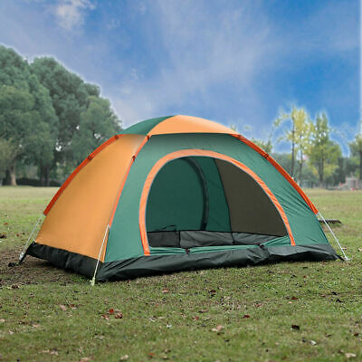 AU39.99 • Buy Large Pop Up Tent Automatic 3-4 Man Person Family Tent Camping Festival Shelter