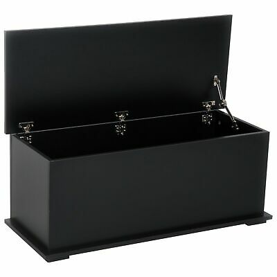 £65.97 • Buy Modern Trunk Chest Wooden Rectangle Toy Box Lift Up Lid Storage Furniture Black