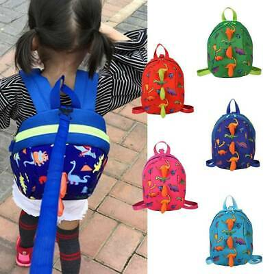 Cartoon Dinosaur Baby Bag Backpack Toddler Kids Safety Harness Strap With Reins • 7.59£