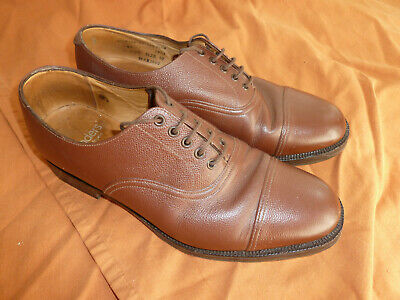 Superb Sanders Gentlemans Army Officers Brown Leather Shoes 10l Uk Made Quality • 49.99£