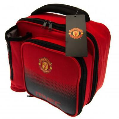 Manchester United Football Club Fade School Lunch Bag Box With Bottle Holder • 14.95£