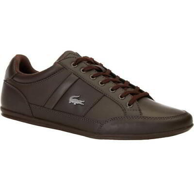 Lacoste Chaymon Mens Brown Leather Trainers Shoes Size 7-12 • 71.99£