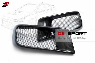 $170 • Buy Carbon Fiber Dual Air Intake R Style Front Bumper Ducts Fits Evolution X EVO 10