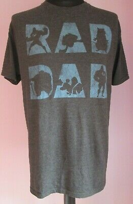 Preloved Mens DISNEY INCREDIBLES RAD DAD Grey Crew Neck T Shirt Size Large (42A) • 9£