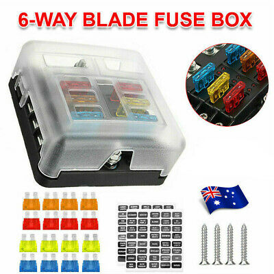 AU21.87 • Buy 23PCS 6 Way Circuit Blade Fuse Box Block Holder LED Indicator Car Marine 12V 24V