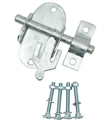 Oval Pad Bolt 4  Galvanised Gate Shed Door Lock 100mm Padbolt Brenton  • 5.95£