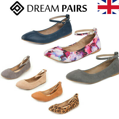 DREAM PAIRS Womens Ballerina Ballet Flat Pumps Ladies Dolly Bridal Shoes Size UK • 18.99£