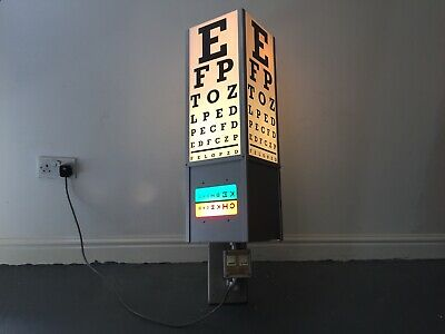 Vintage Optician's Eye Test Light Box Revolving Optometrist Chart British Made  • 550£