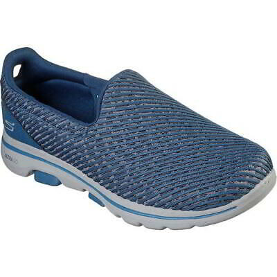 Skechers Go Walk 5 Miracle Womens Ladies Slip On Shoes Trainers Blue Size 3-8 • 39.99£