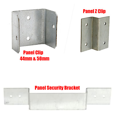 Fence Panel Clips Post Security Brackets TrellisDecking Garden Keep Panels FIXED • 6.90£