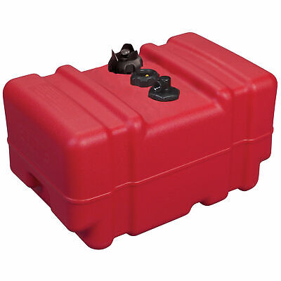 $140.77 • Buy High Profile Portable Fuel Tank 12 Gallon Pontoon Boat Sturdy Strong Red