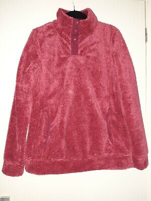PETER STORM Size 12 Thick Red Fleece With Button Up Neck • 6£
