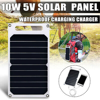 Portable 10W 5V Solar Power Panel Charging USB Battery Charger For IPhone  UK • 19.83£