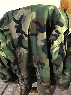 $45.99 • Buy US ARMY Woodland Camouflage M-65 Cold Weather Field Coat Medium Long