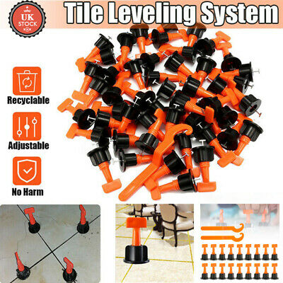 50-200x Floor Wall Tile Levelling System Leveler Tool Set Reusable Construction • 13.59£