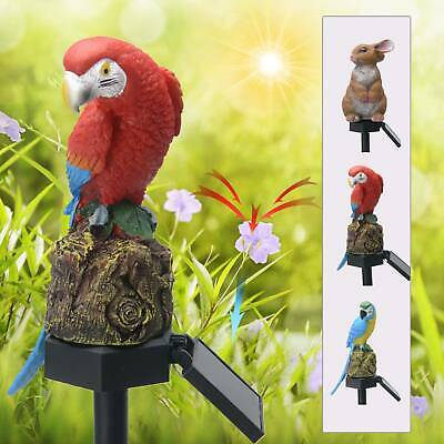 Solar Powered Garden LED Lights Owl Animal Pixie Lawn Ornament Waterproof Lamp • 6.99£