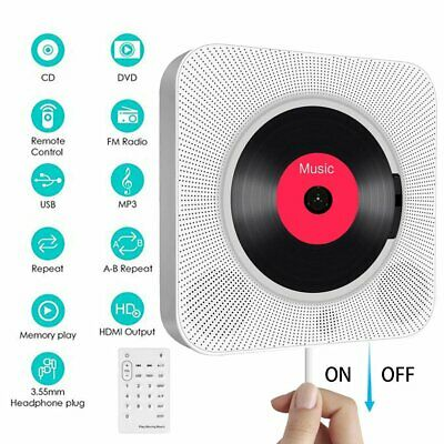 CD Player Wall-mounted Bluetooth Portable Home Audio Boombox With Remote Control • 36.98£