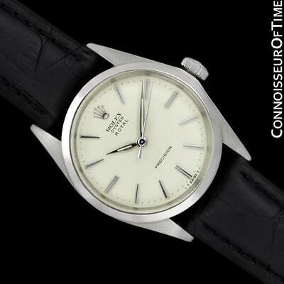$ CDN3880.89 • Buy 1961 ROLEX OYSTER ROYAL Vintage Mens SS Steel Watch - Mint With Warranty