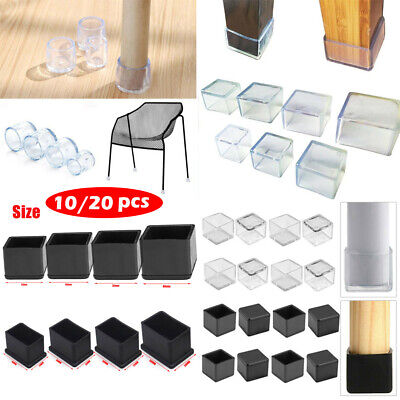 20X Silicone Rubber Chair Leg Caps Feet Pads Furniture Covers Floor Protector • 4.49£