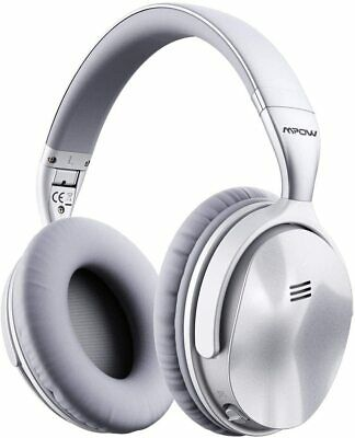MPOW H5 Active Noise Cancelling Bluetooth Over Ear Headphones ANC MIC DEEP BASS • 31.99£