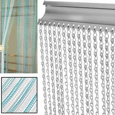 Metal Chain Insect Fly Door Curtain Blind Screen Aluminium Strip Pest Control • 52.63£