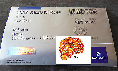 £22 • Buy SALE - Factory Pack Swarovski SS8 SUN Hotfix Crystals - 1440 Crystals In Pack