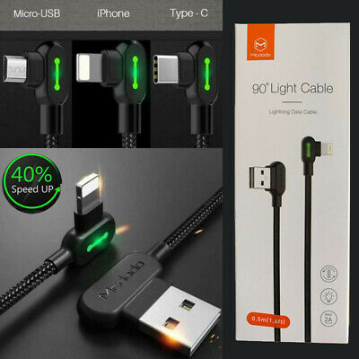 AU14.99 • Buy New TITAN POWER+ Smart Cable 3.0 IOS Type-C Micro-USB Charging Cable Original